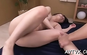 Hungry stud is having raucous fun sampling an asian twat