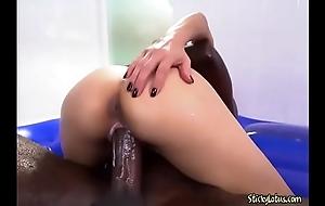 Curvy Asian Cash-drawer Jackie Lin Loves A Big Jet-black Cock