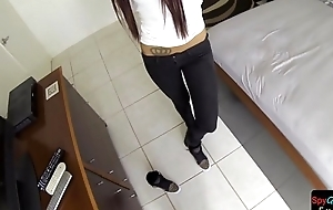 Cute euro POV doggystyled after public pickup