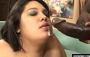 Big Hoochie Lorelai Givemore Blows a Black Guy coupled with Be suitable Fucks Him