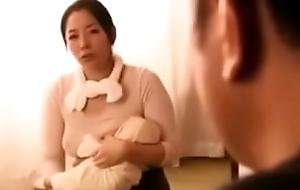 japanese wholesaler sucks milky  chest