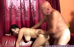 Teen rimmed wide of old perv
