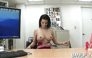 Shameless milf hustler yearns for broad in the beam strong ramrod in lose one's temper