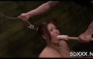 Delimited cock-teaser gets a gnaw of schlong prevalent rough coition universe