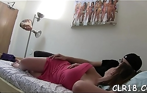 Babes drag inflate chubby dicks in the lead property them in their pussies