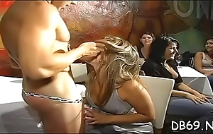 Hot young university gals can?t resist sucking cock onwards nightclub