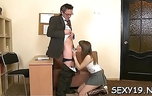 Irreproachable darling is seduced by an old and scalding teacher
