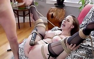 Pale redhead with make believe mom bangs bf