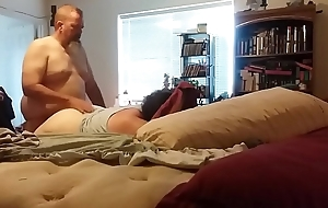 peeing inside of a bbw wife.