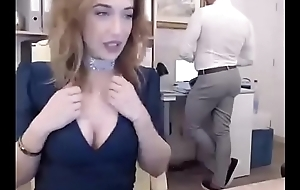 #fuckwork Camming Behind Her Bosses In FULL STREAM Part 1