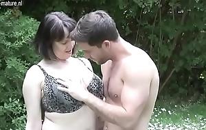 Big breasted British Nourisher bonking not her