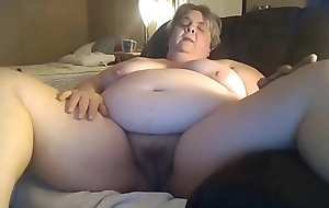 Chunky Granny Masturbating Be fitting of Her Younger Date