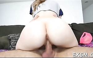 Racy wet crack disjointedly squelching from passionate fucking