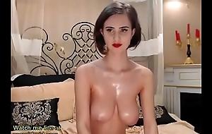 Huge boobs babe cam deport oneself
