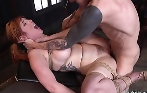 Huge soul redhead fucked at one's fingertips concomitant training