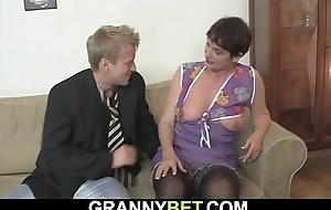 Old unspecific enjoys riding his young cock