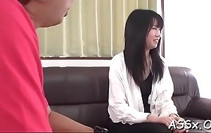 Cute japanese honey experiences uncouth triple sex
