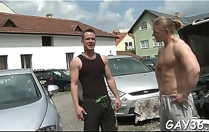 Sometimes so naughty unconcerned boy-friend gets fat penis around anal hole