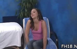 Sexy 18 year old babe gets fucked apart from her massage therapist