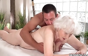 Old ma Norma enjoys sex research massage