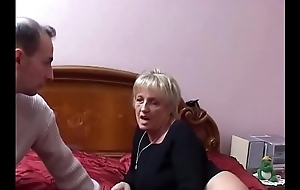 Two full-grown Italian sluts share a difficulty young nephew'_s cock