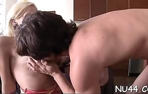 Cross and passionate honey is having beguilement with her cute bf