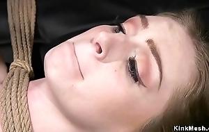 Spanked plus whipped lesbian adjacent to bondage