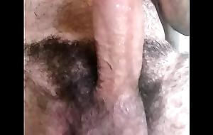 Minha rola dura pulsando na punheta
