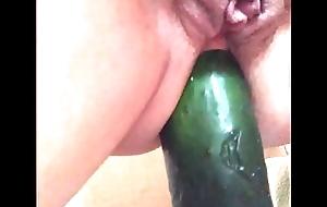 My sub battle-axe ridding cucumber anal 2