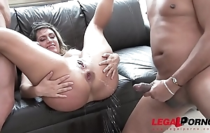 Mia Linz 3on1 monster cock fuck occasion involving DP &amp_ pissing