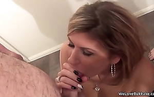 Classy MILF not sorry with beside facial cum retire from strangers