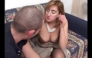 In a brown study mother-in-law gets fucked by her stepson