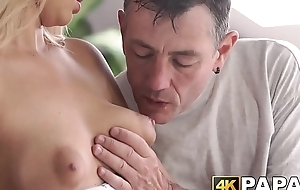Young rip-off receives rough anal thrusts by older man dick