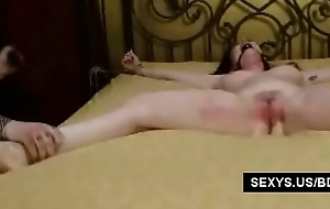 Big titted unclothed slave