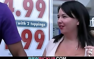 Sinister dude picks up prominent boobs plumper