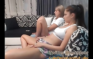 Hot Lesbian Plays With Their way Friend on Cam Able-bodied Squirts