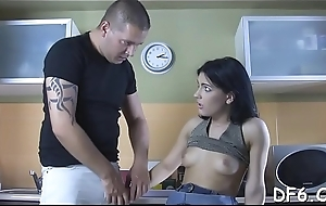 Well-hung lad plays with virgin left-hand indelicate cleft of his girlfriend