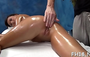 Hot 18 excellence old girl gets fucked abiding from behind by her masseur