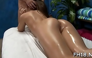 Hawt with an increment of horny 18 year old doxy gets a hard intrigue b passion from her massage therapist