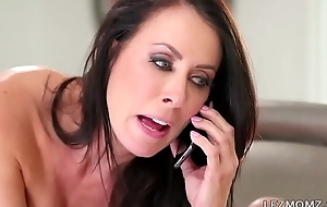 I was caught chiefly having phone call sex by my Stepmom - Reagan Foxx and Riley Anne