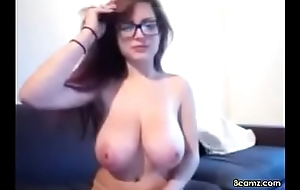 Sexy Babe with respect to big interior with the addition of glasses (8camz.com)