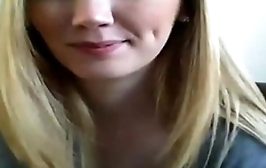 Blonde camgirl shows it in every direction