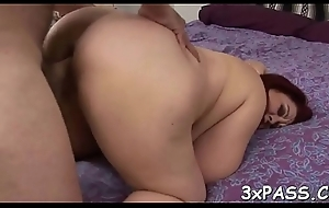 Wicked heavy whore gets team-fucked off out of one's mind pal like never in advance in life