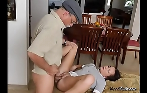 Teen Amy Gets Her Pussy Used By Horny Old Men