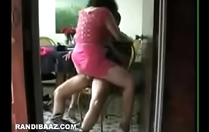 Desi Housewife quickie riding her neighbour