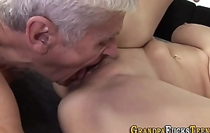 Teen mouth jizzed wits perv