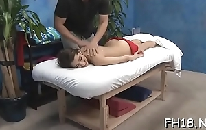 This sexy 18 year superannuated hot unladylike gets fucked hard from break weighing down on by her massagist