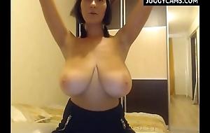 Huge Boobs surpassing Webcam