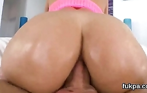 Perfect babe shows enormous ass together with gets asshole screwed