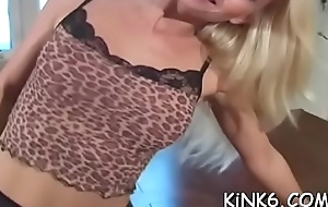 Wicked chick in panties jerks her sexy feet and widens thighs
